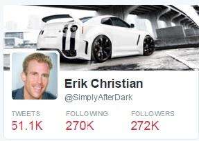 Erik Johnson Twitter stats