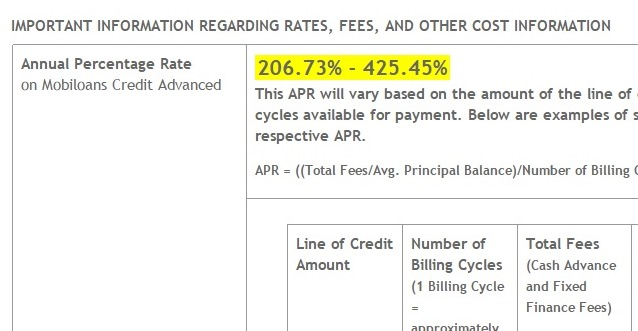 high apr installment loan warning
