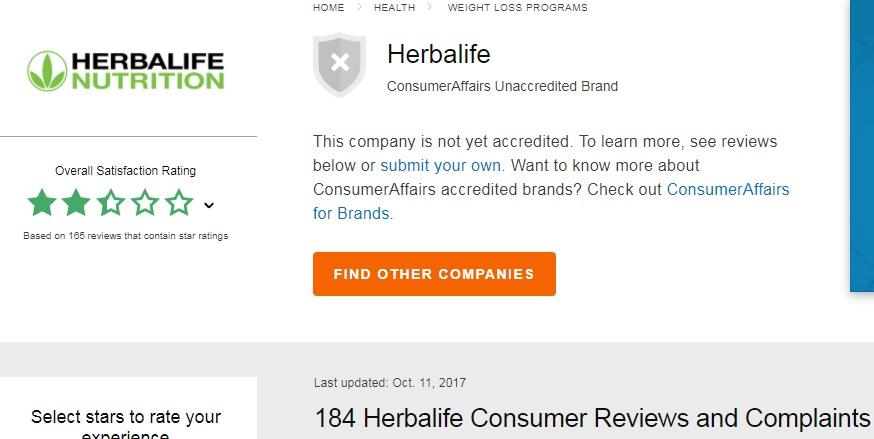 herbalife complaints