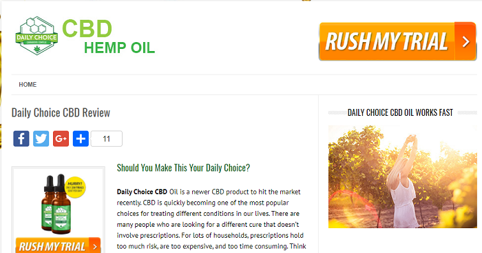 WARNING! Daily Choice is NOT My Daily Choice Hempworx CBD Oil!